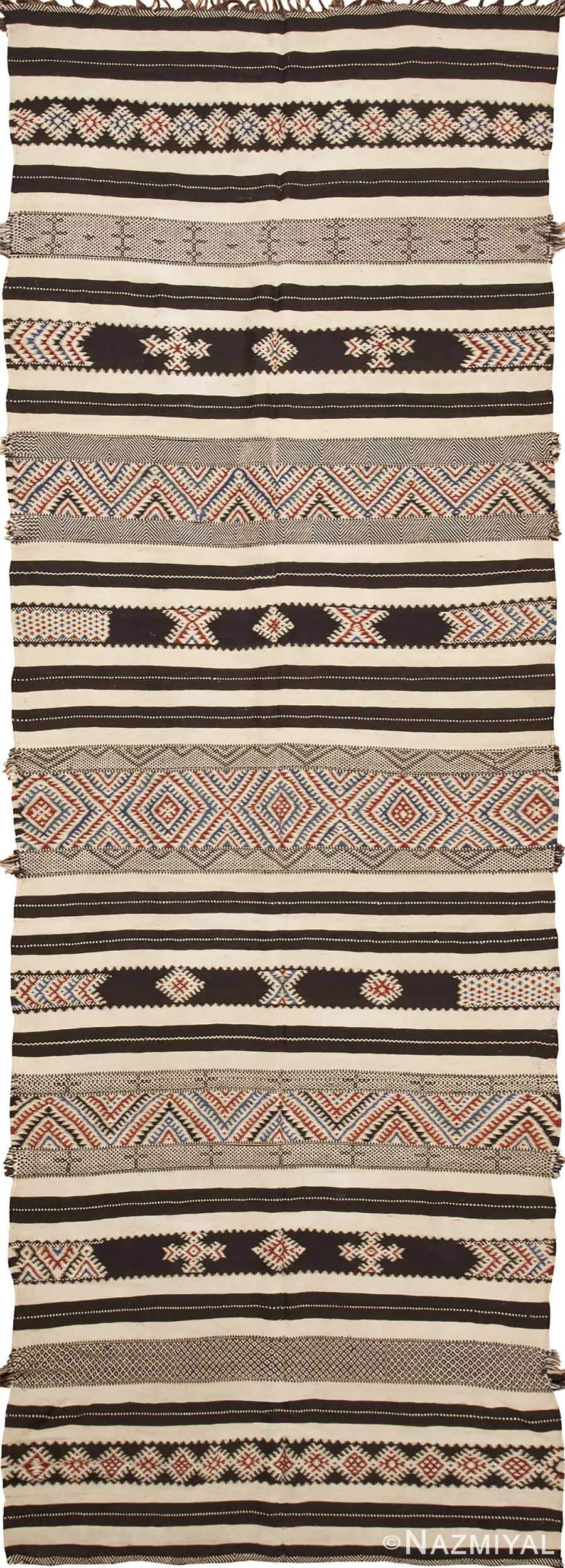 Flat Woven Vintage Moroccan KIlim Rug #45379 from Nazmiyal Antique Rugs NYC