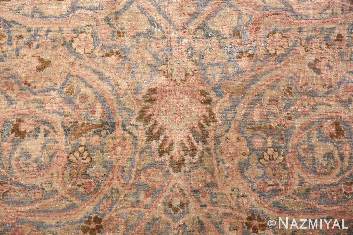 Detail Light Blue Antique Persian Khorassan rug 70001 by Nazmiyal
