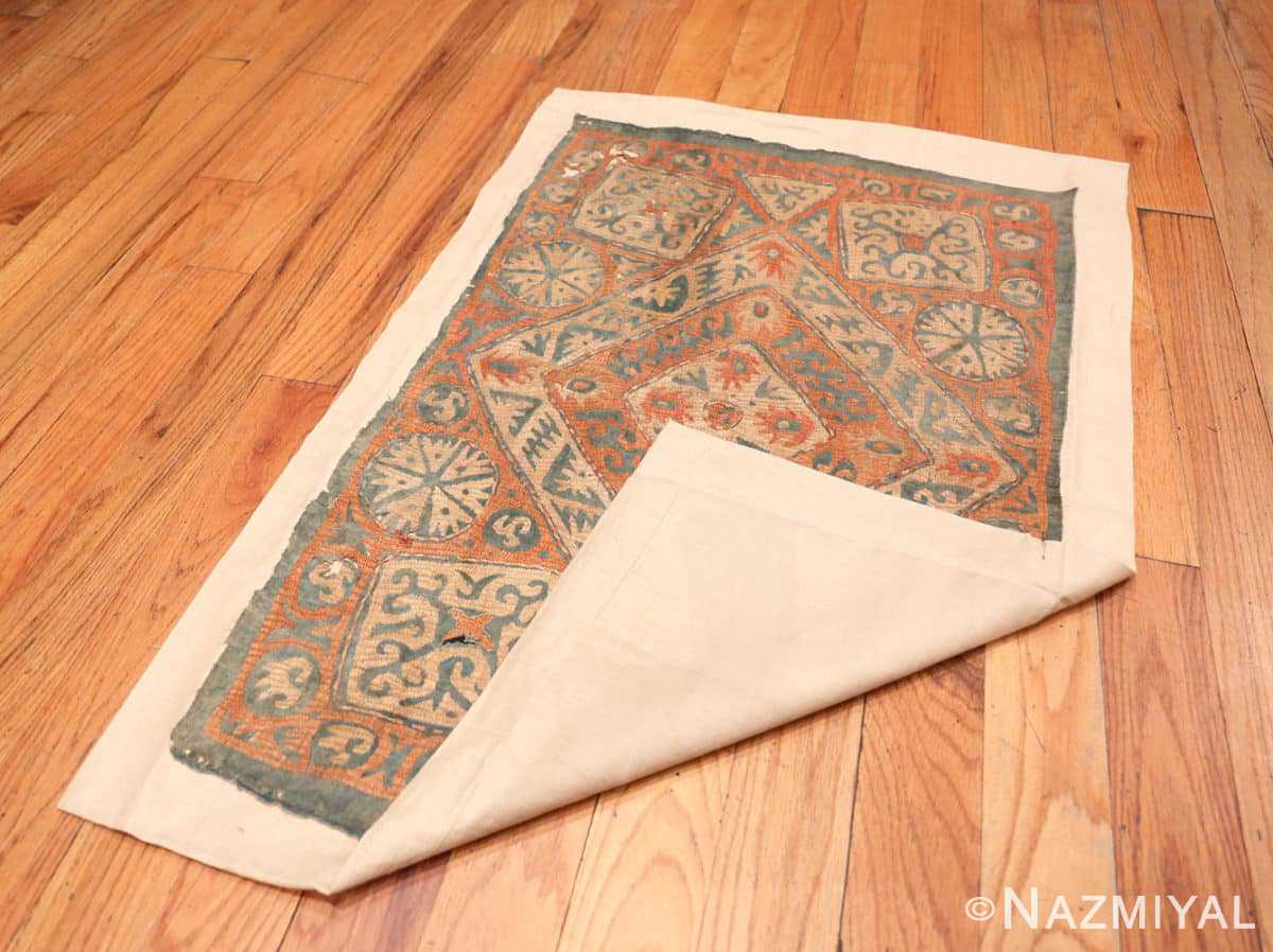 Back and front Antique Kaitag Embroidery Dagestan rug 70087 by Nazmiyal