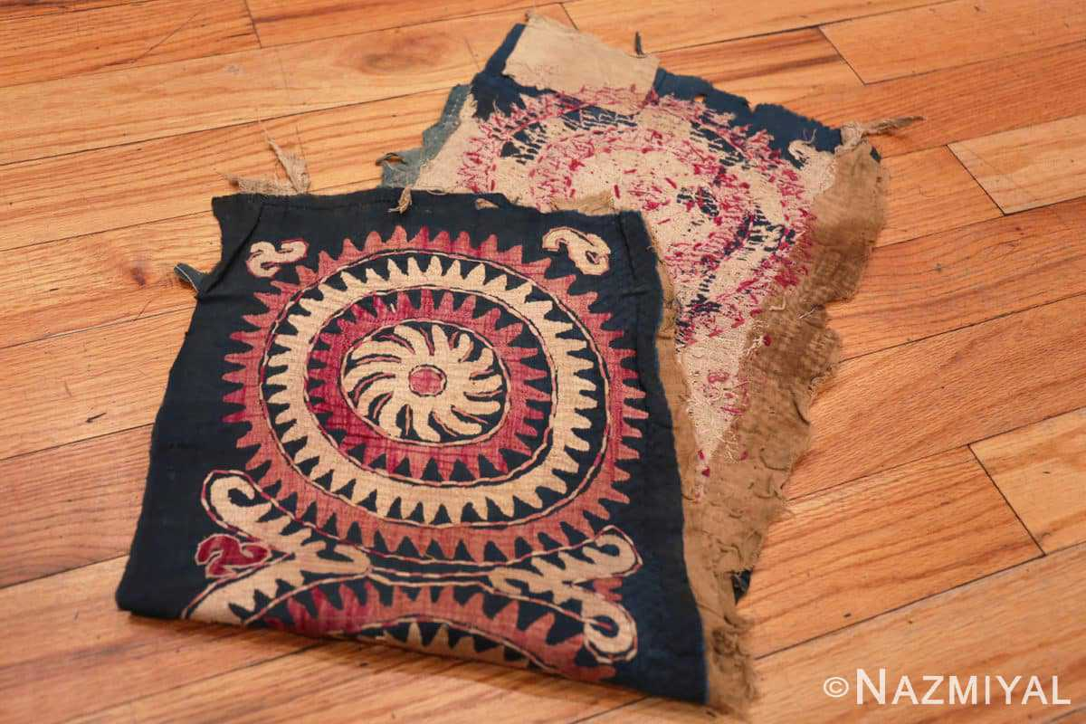 Both sides Antique Dagestan Kaitag embroidery 70084 by Nazmiyal
