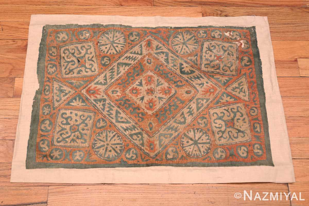 Full Antique Kaitag Embroidery Dagestan rug 70087 by Nazmiyal