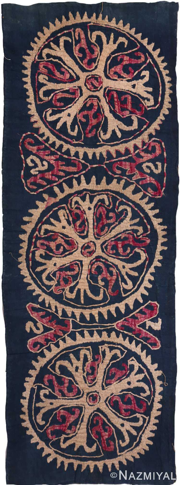 Full view 19th Century Dagestan Kaitag Embroidery 70083 by Nazmiyal
