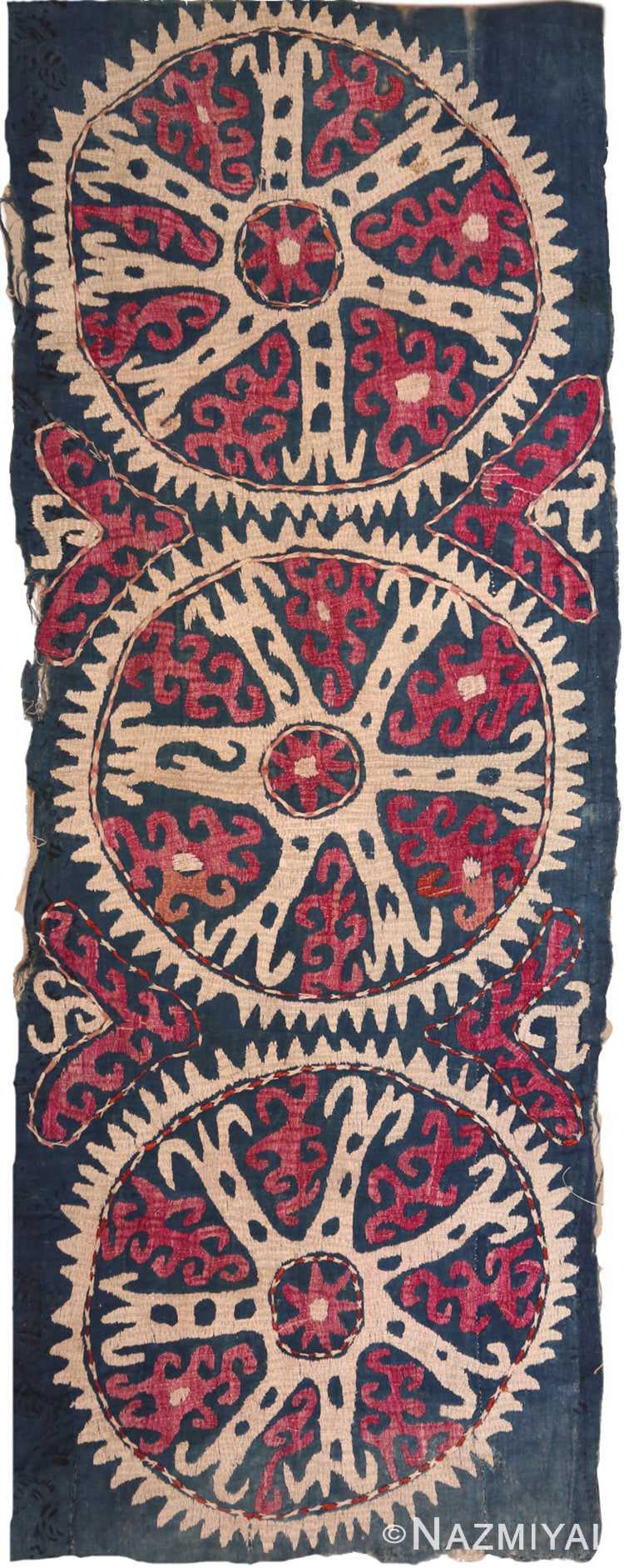Full view Antique Kaitag Embroidery Dagestan 70086 by Nazmiyal