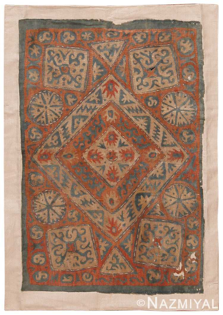 Full view Antique Kaitag Embroidery Dagestan rug 70087 by Nazmiyal