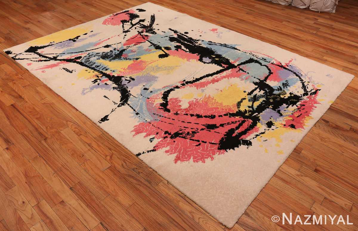 A full picture of the vintage Swedish Robert Jacobsen Ege Rug #7077 from Nazmiyal Antique Rugs NYC