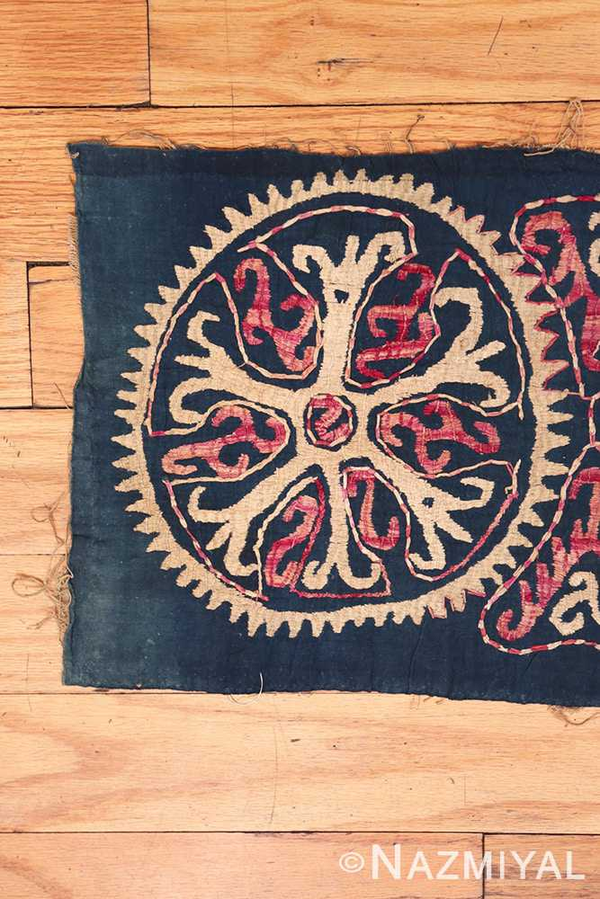 Left part 19th century Kaitag Dagestan embroidery rug 70083 by Nazmiyal
