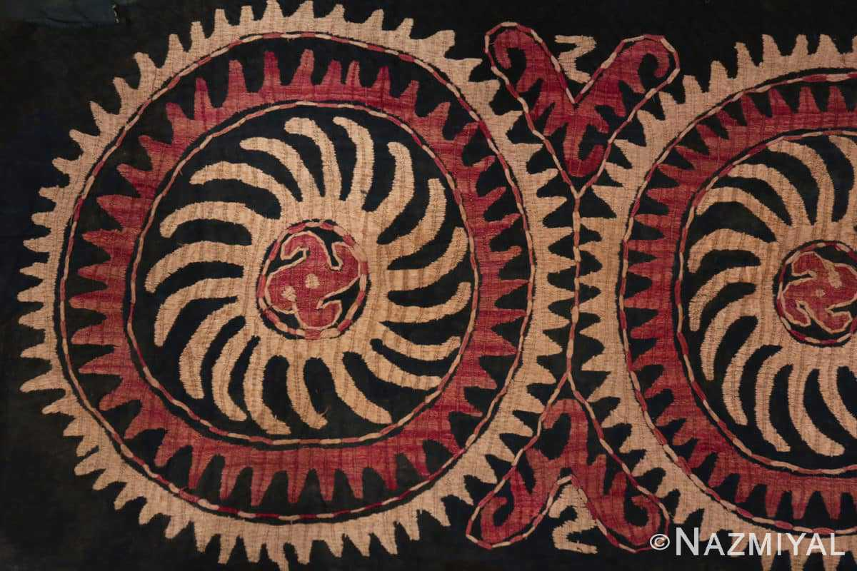 Left part Antique Kaitag Dagestan embroidery 70085 by Nazmiyal