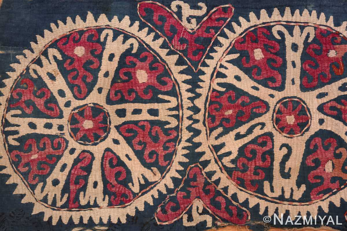 Left part Antique Kaitag embroidery Dagestan rug 70086 by Nazmiyal