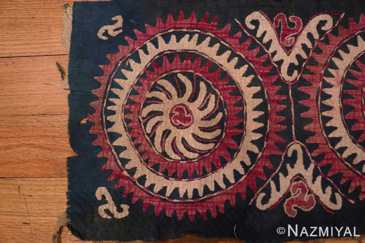 Left part Antique Dagestan Kaitag embroidery 70084 by Nazmiyal
