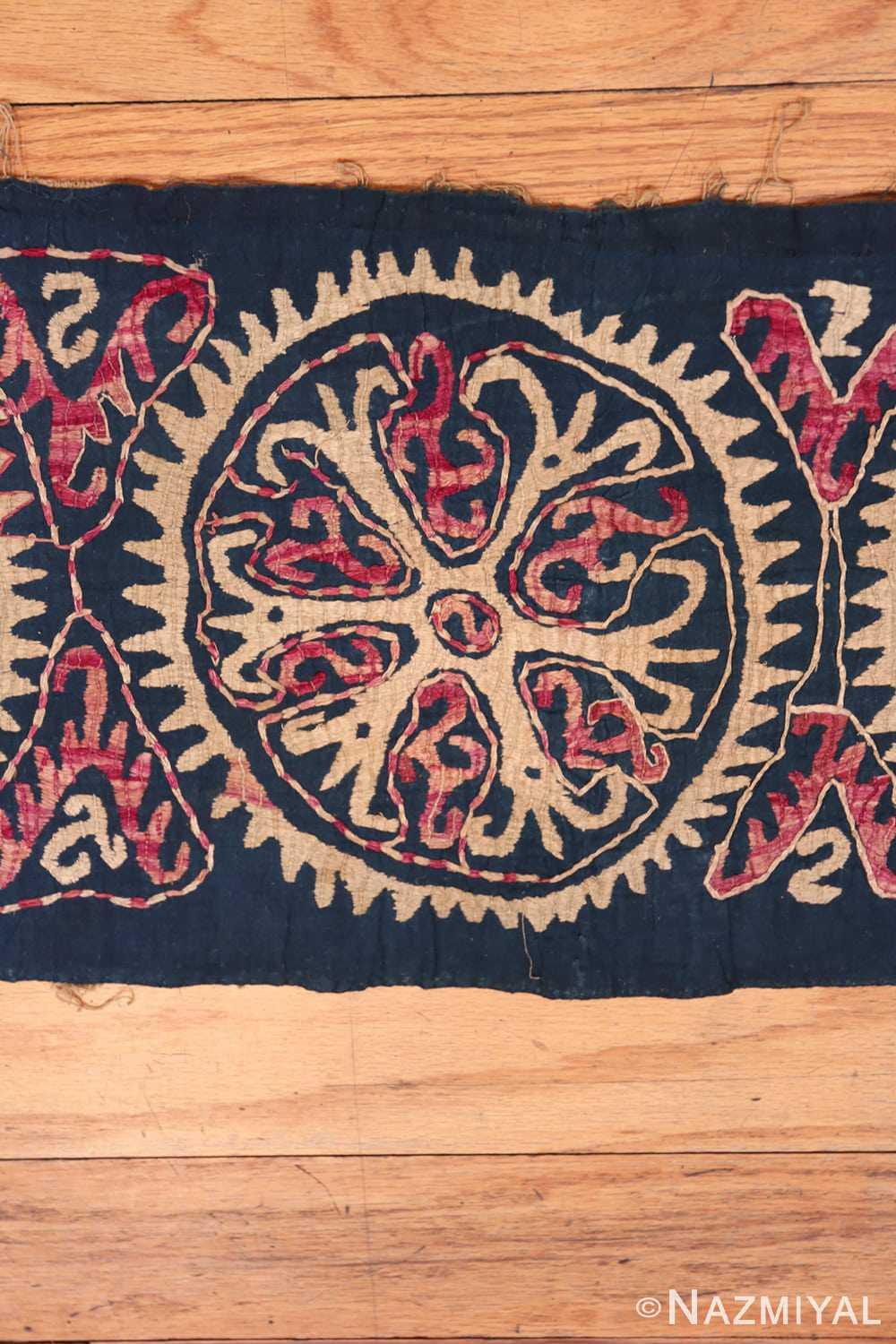 Middle part 19th century Kaitag Dagestan embroidery rug 70083 by Nazmiyal