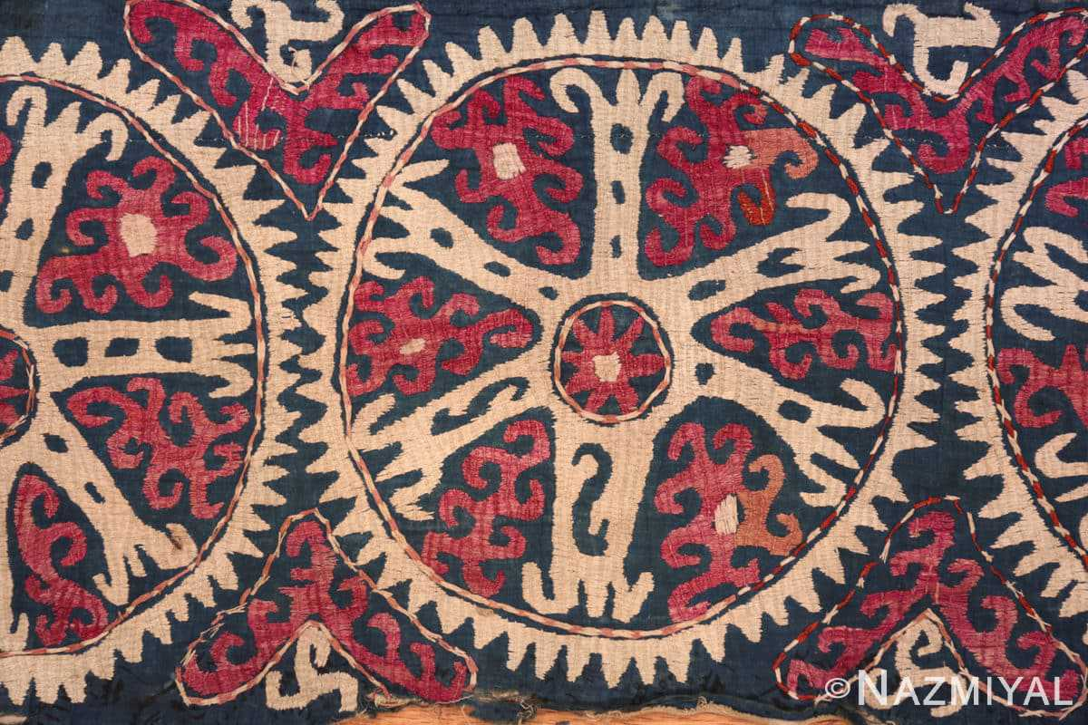 Center part Antique Kaitag embroidery Dagestan rug 70086 by Nazmiyal