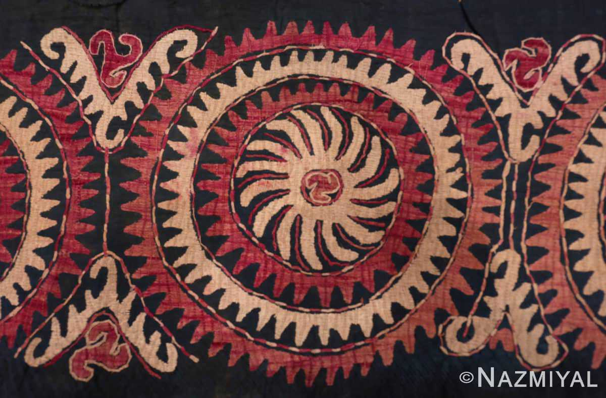 Center part Antique Dagestan Kaitag embroidery 70084 by Nazmiyal