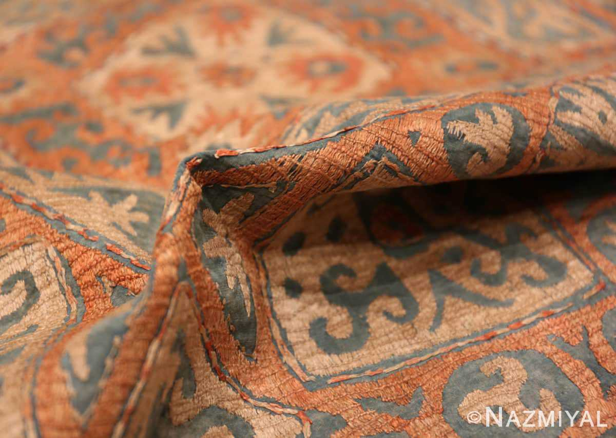 Pile of the Antique Kaitag Embroidery Dagestan rug 70087 by Nazmiyal