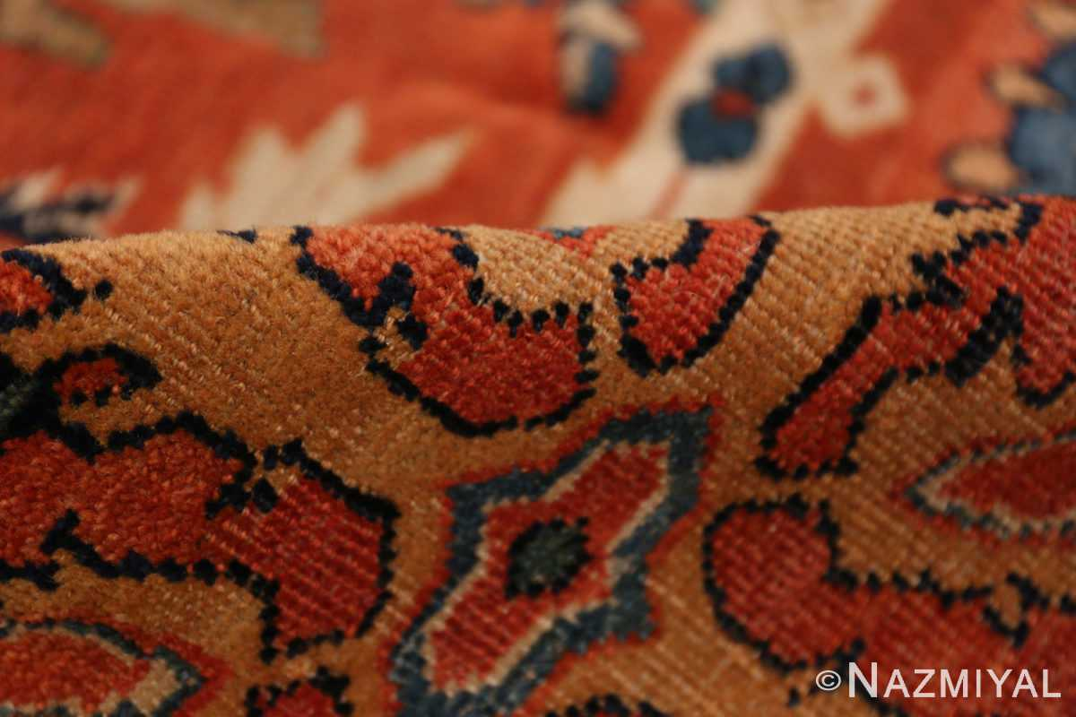 A pile picture of the antique large scale persian sultanabad carpet #48563 from Nazmiyal Antique Rugs NYC