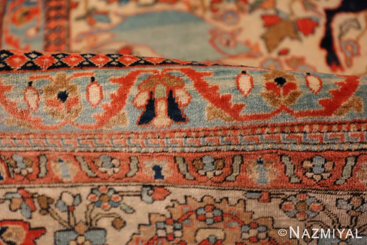 A pile picture of the antique tree of life persian mohtashem kashan rug #70069 from Nazmiyal Antique Rugs NYC