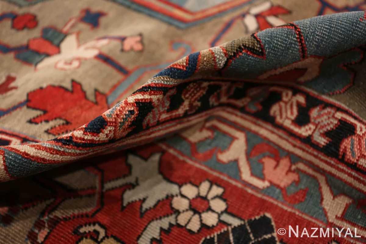 Pile Jewel tone Antique Persian Heriz Serapi rug 49993 by Nazmiyal