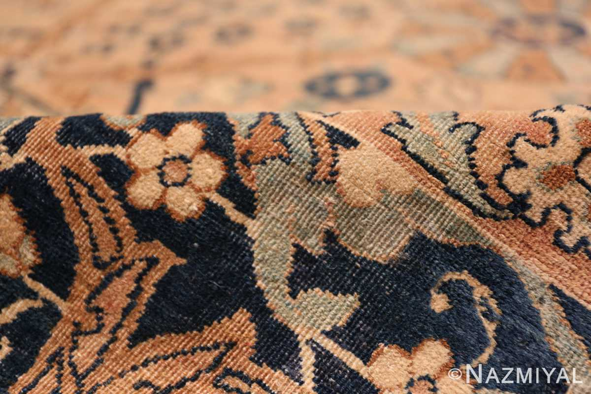 A pile picture of the large vase design antique persian kerman rug #50701 from Nazmiyal Antique Rugs NYC