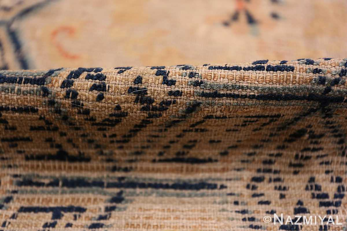 A pile picture of the rare antique 17th century chinese ningxia carpet #70071 from Nazmiyal Antique Rugs NYC