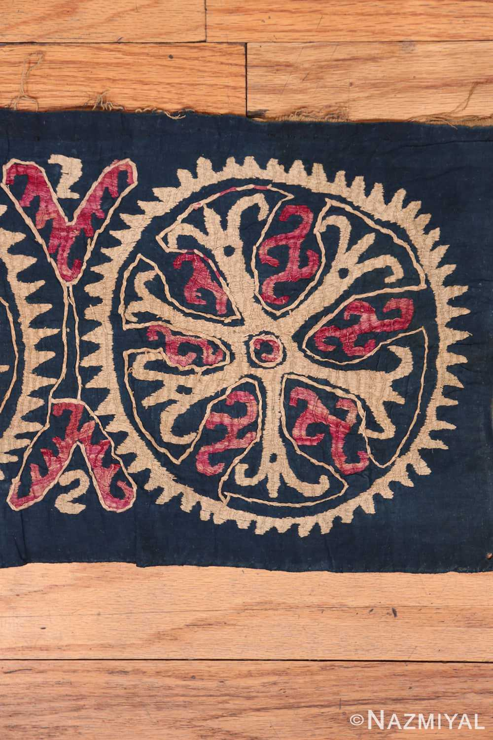 Right part 19th century Kaitag Dagestan embroidery rug 70083 by Nazmiyal