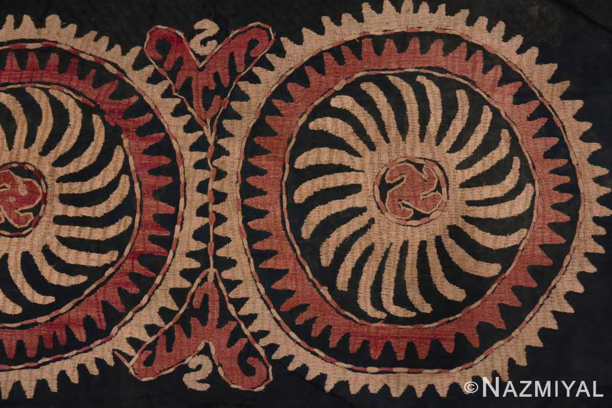 Right part Antique Kaitag Dagestan embroidery 70085 by Nazmiyal