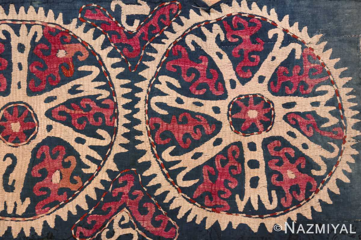Right part Antique Kaitag embroidery Dagestan rug 70086 by Nazmiyal