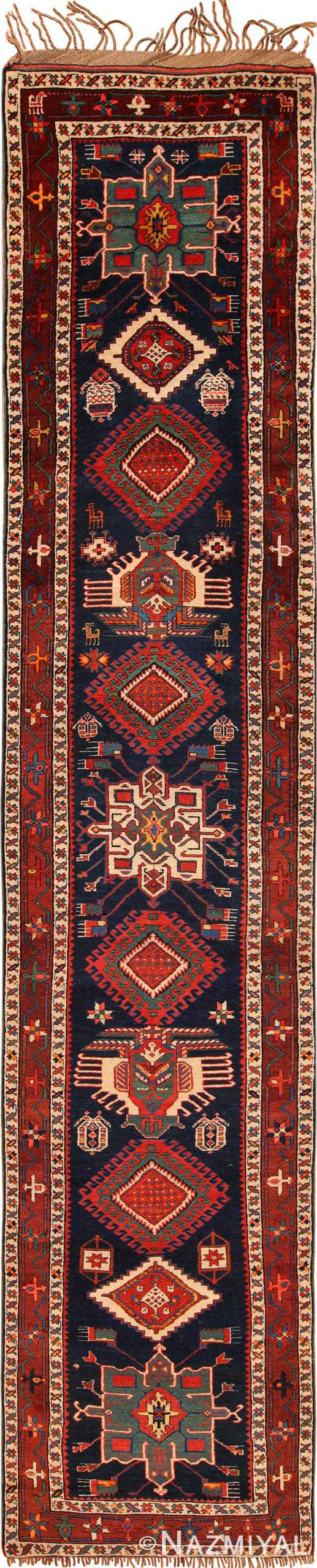 Full view Antique Northwest Persian Runner rug 70040 by Nazmiyal
