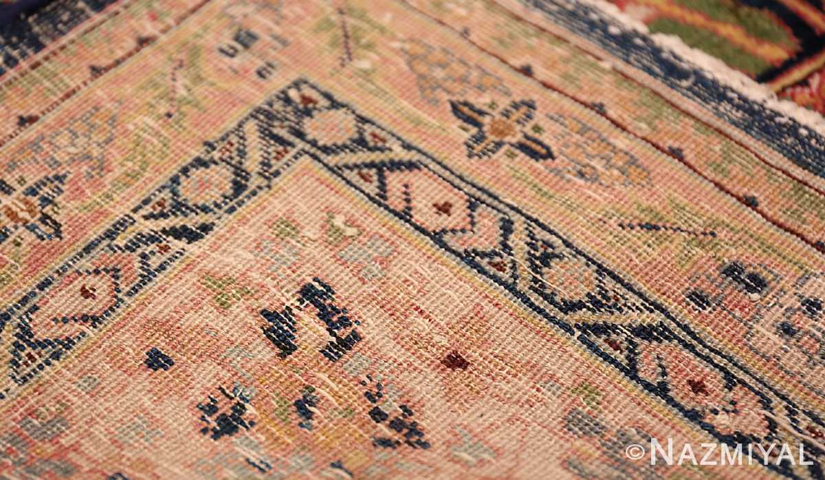 A weave picture of the antique blue background persian bidjar carpet 47411 from Nazmiyal NYC