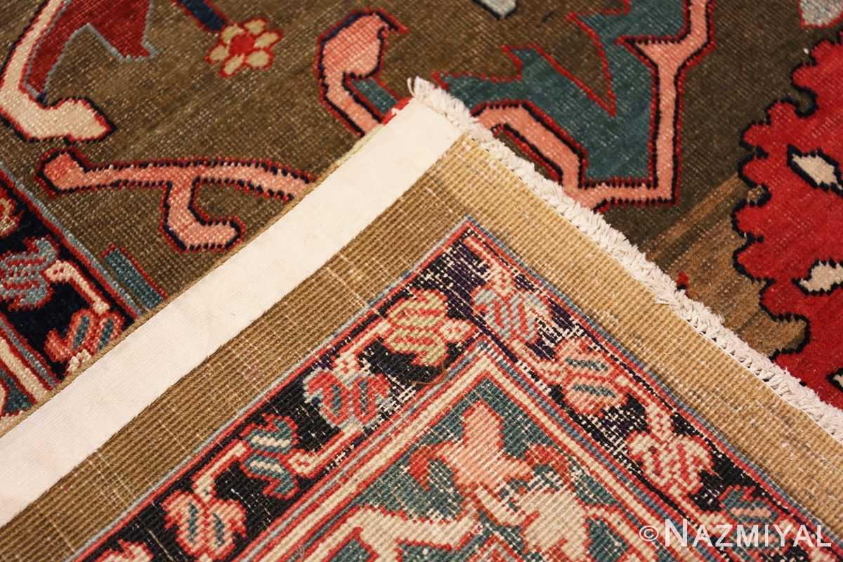 Weave Large Jewel Tone Antique Persian Heriw Serapi rug 49993 by Nazmiyal