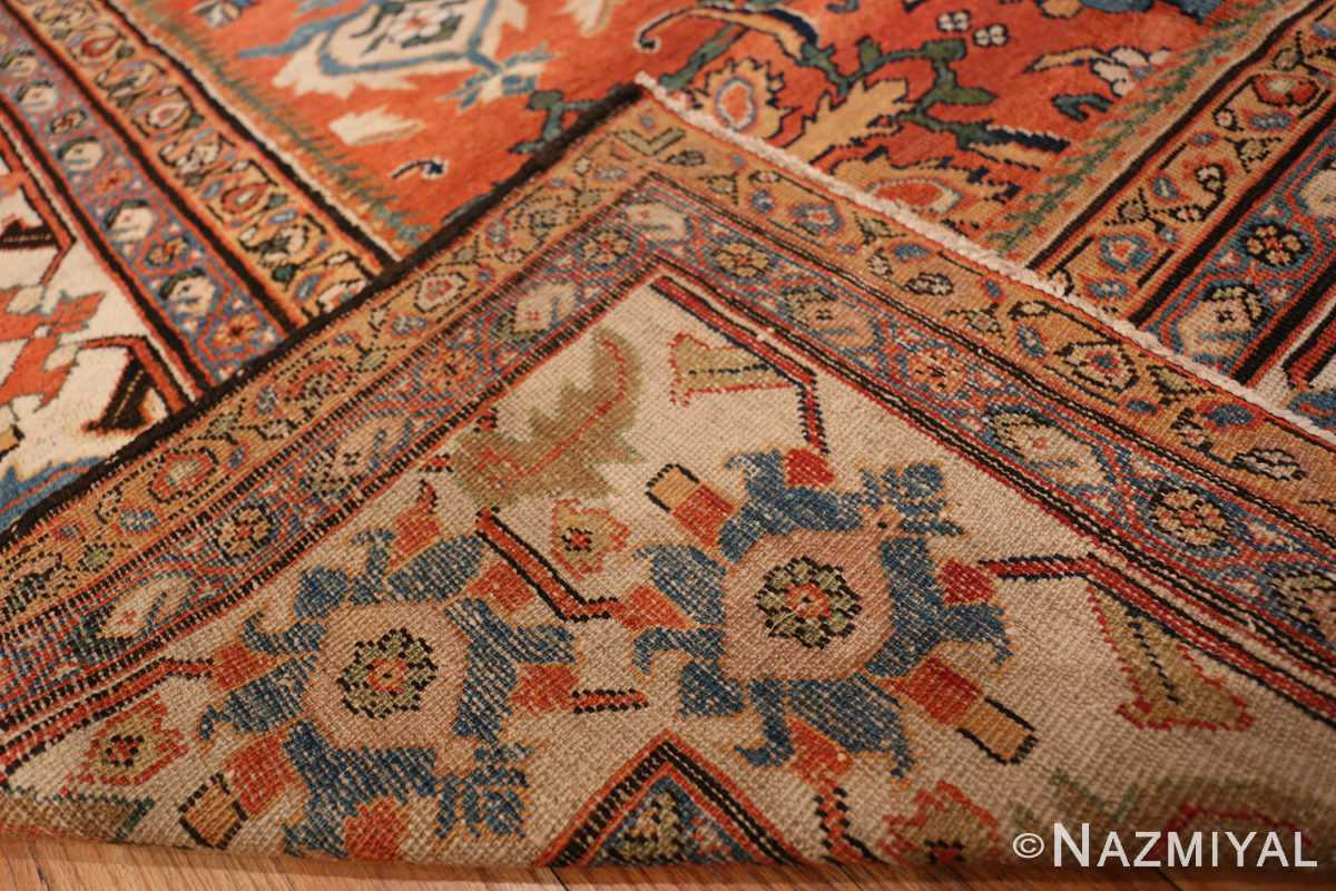 A weave picture of the antique large scale persian sultanabad carpet #48563 from Nazmiyal Antique Rugs NYC