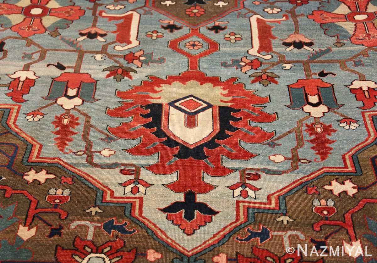 Zoom Large Jewel Tone Antique Persian Heriw Serapi rug 49993 by Nazmiyal