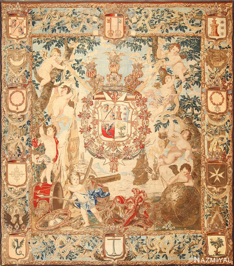 Antique Flemish Tapestry - Nazmiyal Antique Rugs in NYC