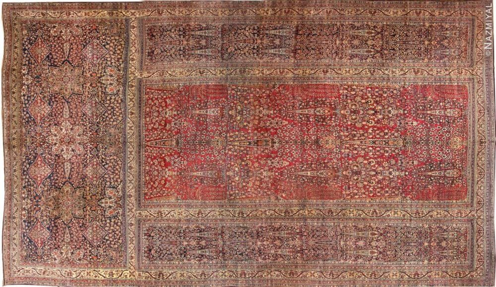 photo of antique oversized persian kerman carpet nazmiyal nyc