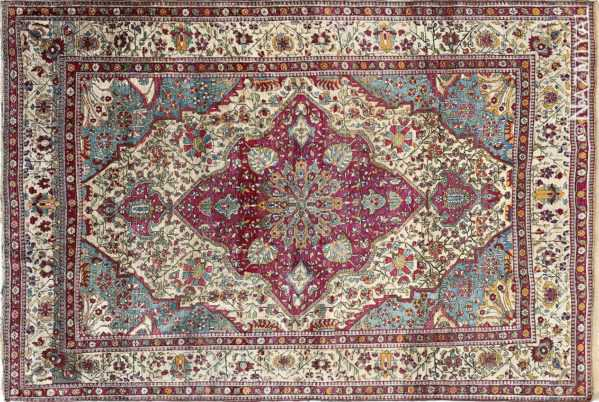 photo of silk antique persian rug nazmiyal nyc