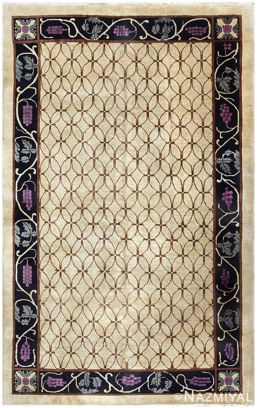 Photo of vintage art deco chinese rug nazmiyal nyc