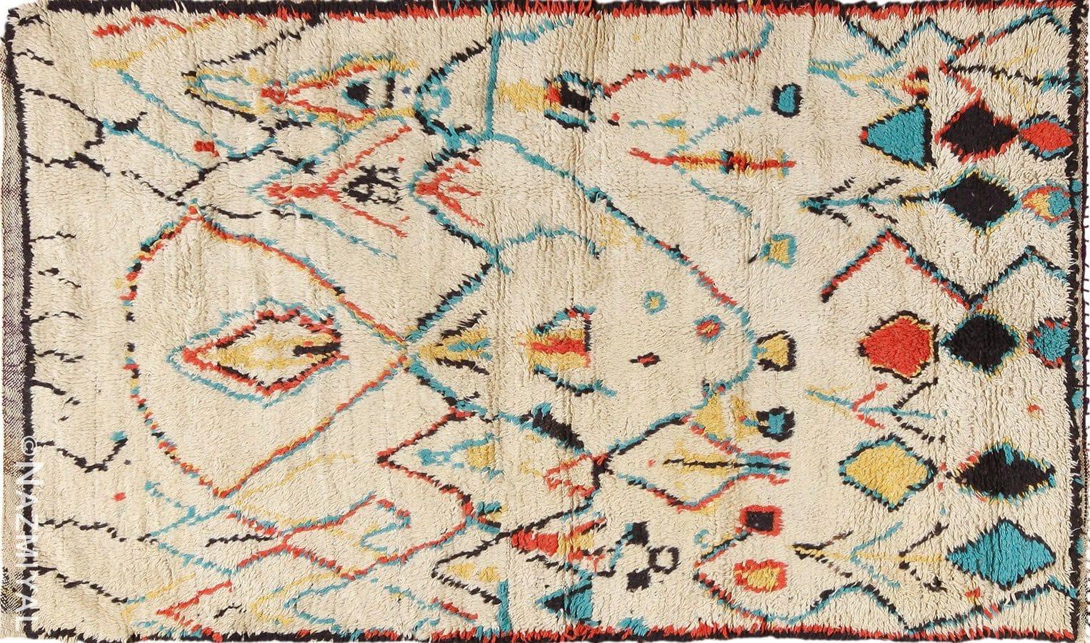 photo of small size vintage moroccan rug nazmiyial nyc