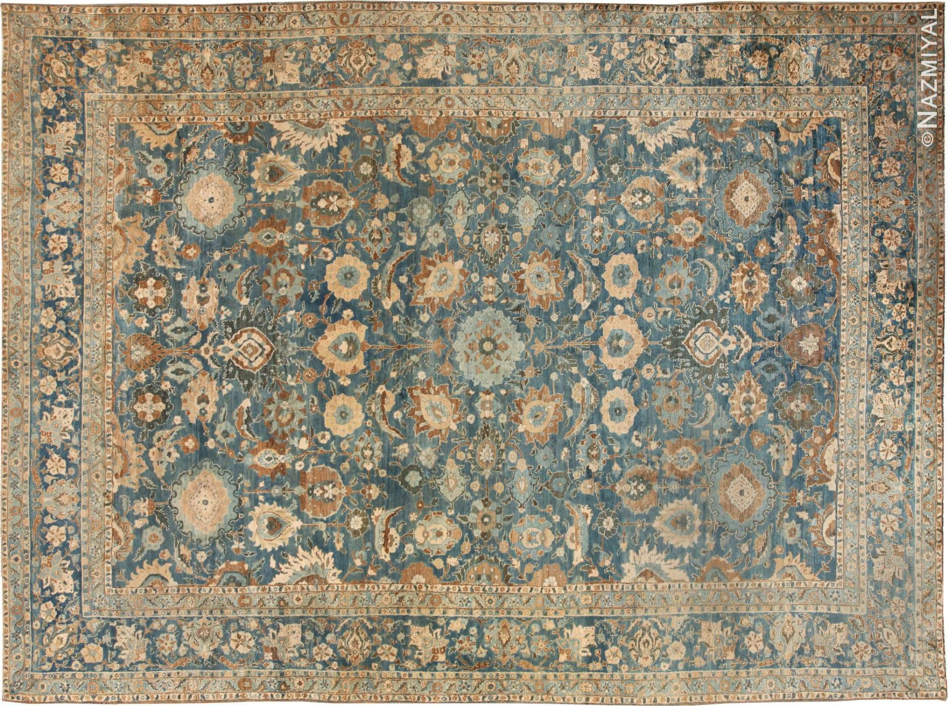 this is a photo of an antique persian rug nazmiyal nyc