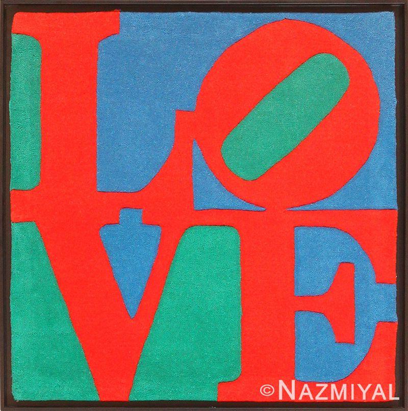 Pop Art Love Rug by Robert Indiana - Nazmiyal Antique Rugs in NYC