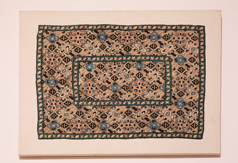 Antique Textile / Tapestry Hanging on Stretchers - Nazmiyal Antique Rugs in NYC