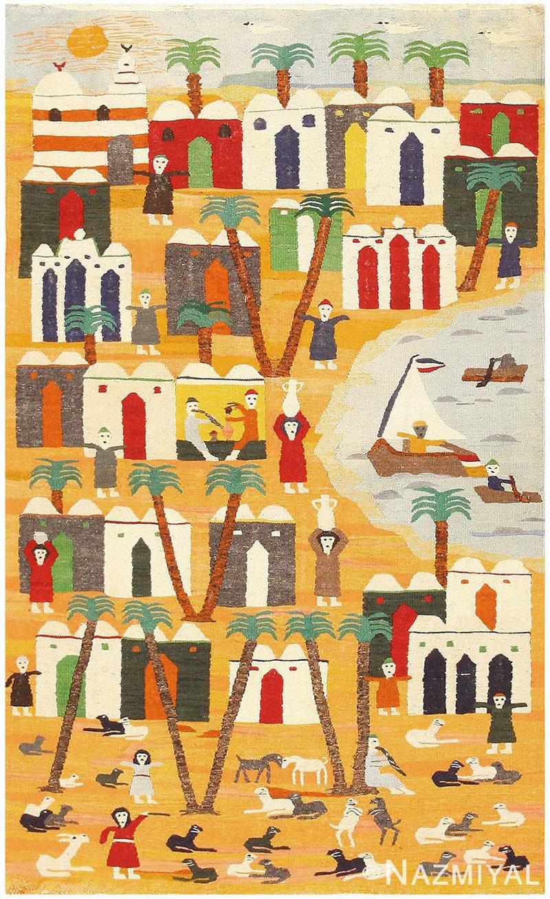 Whimsical Vintage Swedish Kilim Tapestry - Nazmiyal Antique Rugs in NYC