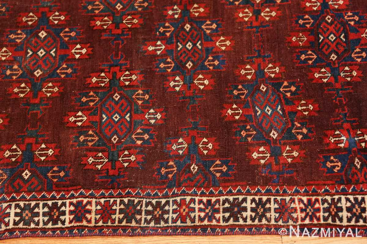 Border Antique Bokara rug 49789 by Nazmiyal