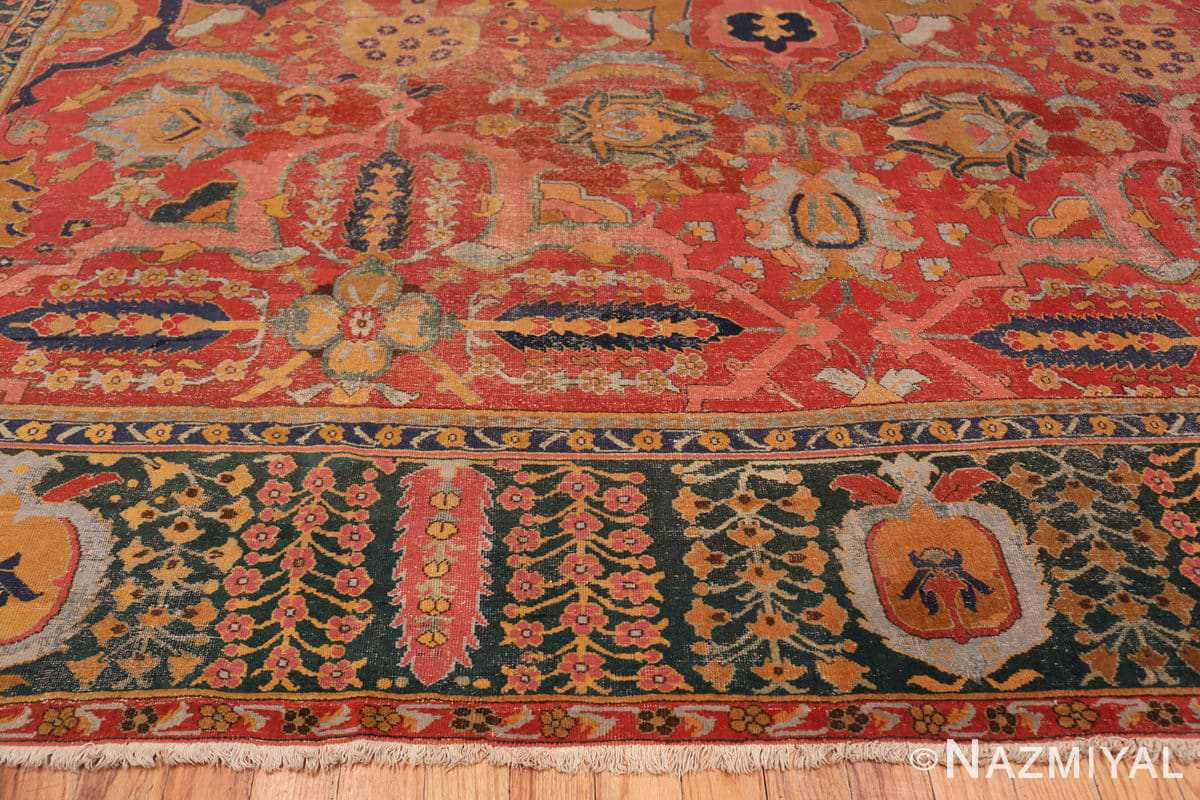 Border Antique Persian Isfahan rug 70046 by Nazmiyal