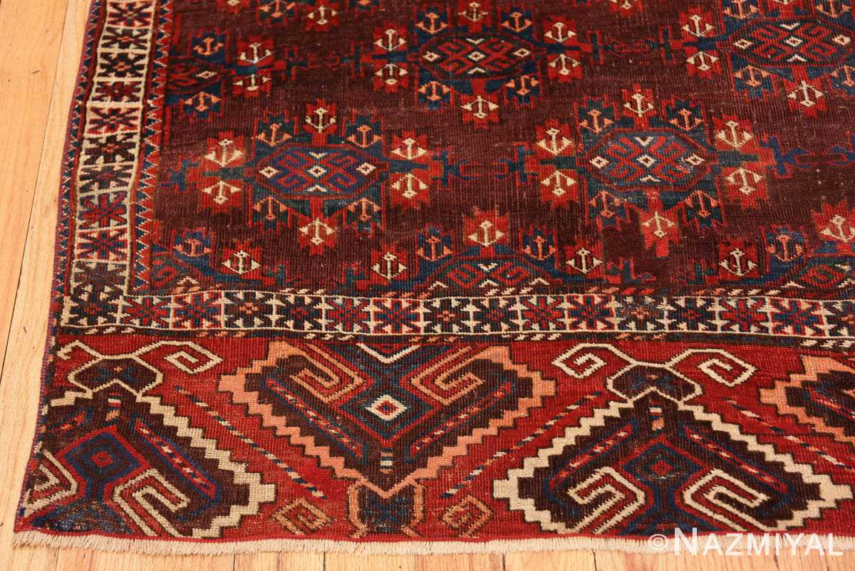 Corner Antique Bokara rug 49789 by Nazmiyal