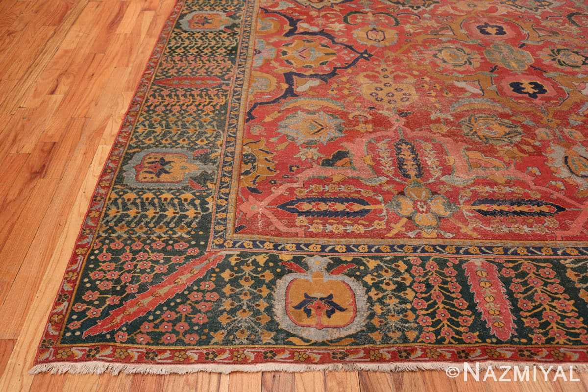 Corner Antique Persian Isfahan rug 70046 by Nazmiyal