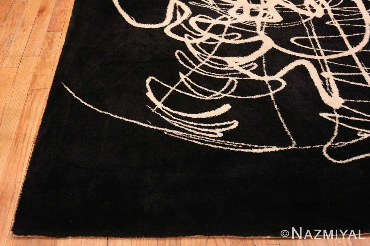 Corner Vintage Art Joan Mitchell rug 70073 by Nazmiyal