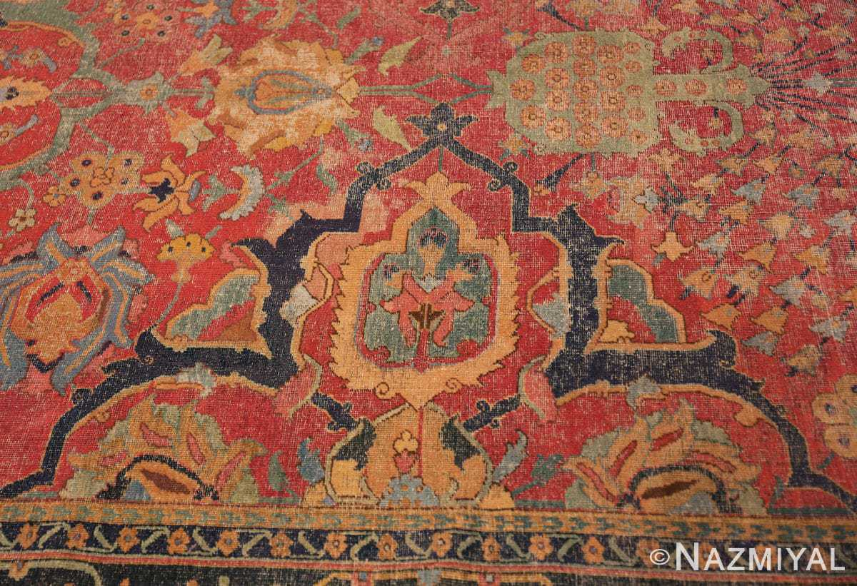 Detail Antique Persian Isfahan rug 70046 by Nazmiyal