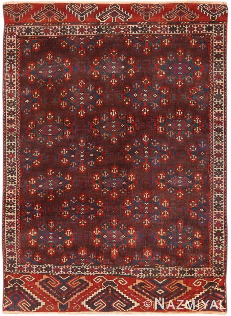 Full view Small Antique Caucasian Bokara rug 49789 by Nazmiyal