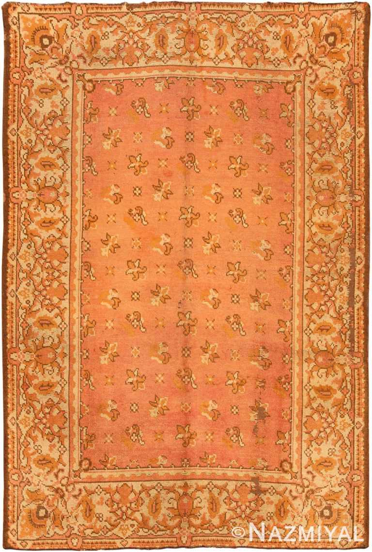 Full view Antique Irish Donegal Carpet 909 by Nazmiyal