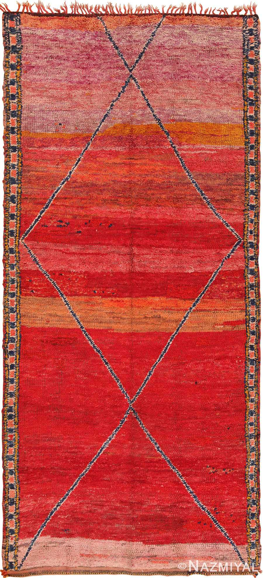 Full view Antique Moroccan rug 70089 by Nazmiyal