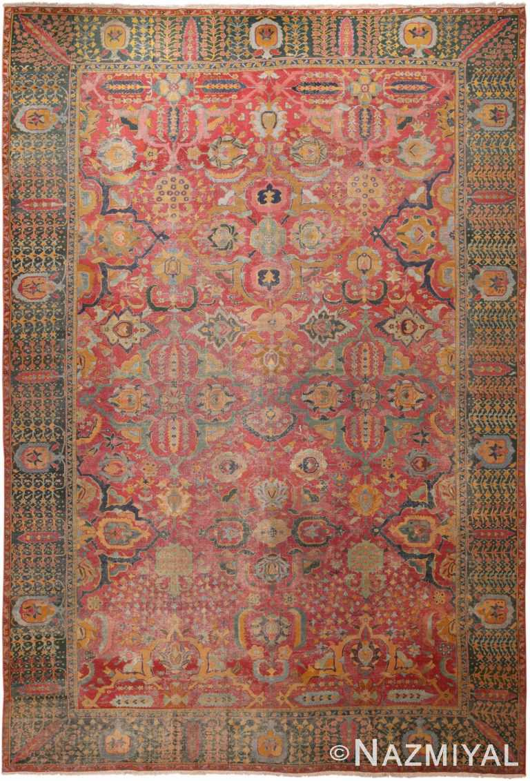 Full view Antique Persian Isfahan rug 70046 by Nazmiyal