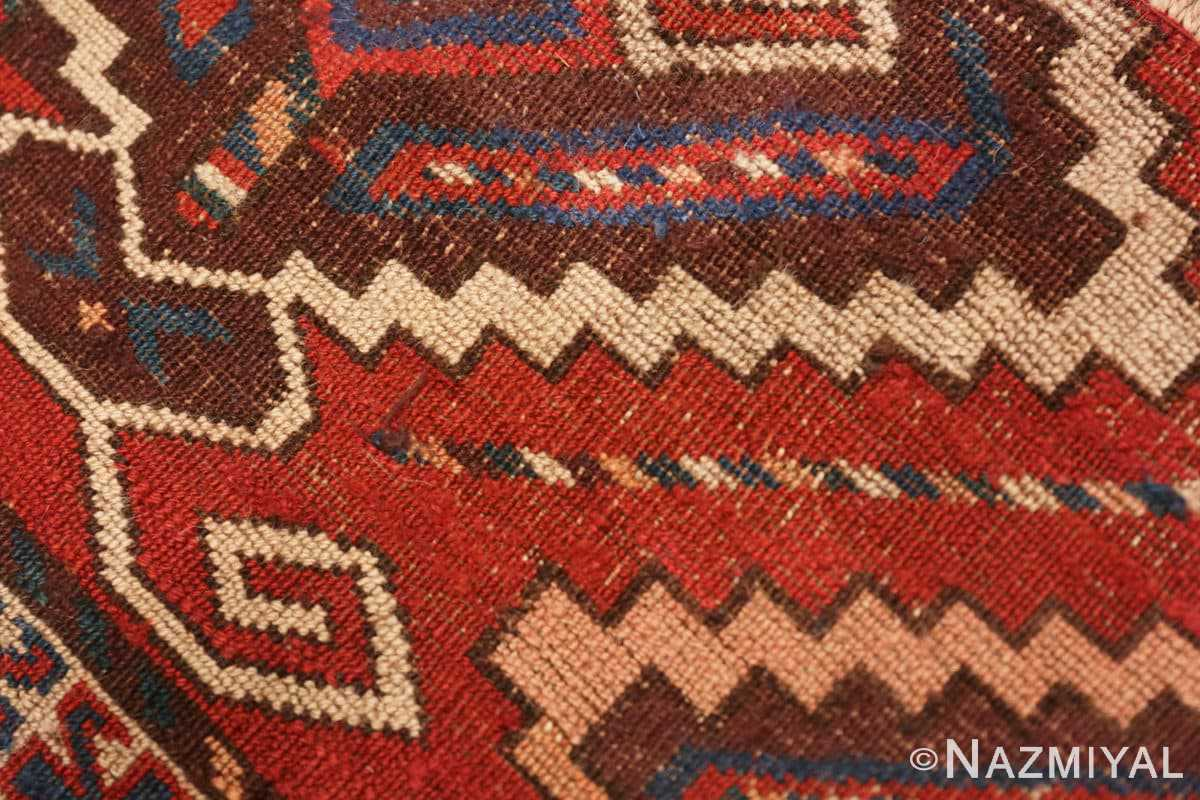 Weave detail Antique Bokara rug 49789 by Nazmiyal